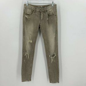 Free People Skinny Jeans Distressed Holes Ripped